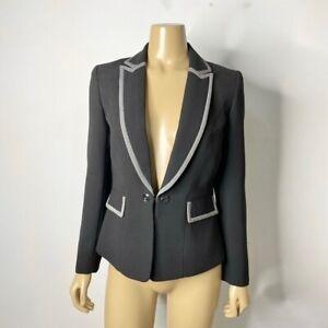 Tahari Arthur S. Levine Women's Size 4 Petite 4P Contrast Trim Blazer Jacket