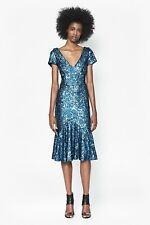 French Connection Celestial Blue Sirius Sequins Dress Size 0 MSRP $268 HPM