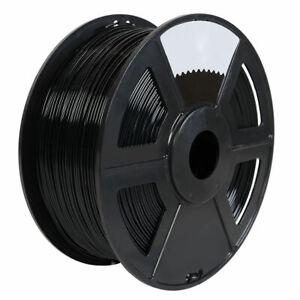 3D Printer Premium PETG Filament 1.75mm 1kg/2.2lb - Black