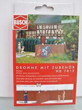 Busch 7812 - H0 - A-set : DRONE CON FIGURE - NUOVO in scatola originale