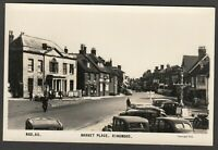 Postcard Ringwood nr Burley New Forest Hampshire motor cars in Market Place RP