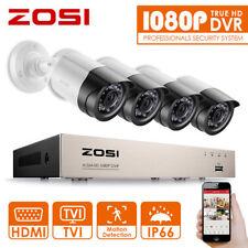ZOSI 4CH/8CH 1080P DVR 2MP Au�Ÿen IR �œberwachungskamera Set Sicherheit System 1TB