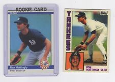2  REPRINTS YANKEES  ROOKIES  DONNIE BASEBALL DON MATTINGLY 1984 FLEER +TIFFANY