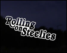 Rolling On Steelies Wheels Car Decal Sticker JDM Vehicle Bumper Graphic Funny