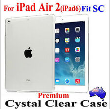 Premium Crystal Ultra-Thin Clear Case Cover For iPad Air 2 Fit Smart Cover Skin