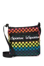 LeSportSac Rainbow Checkers Handbag Zipper Crossbody Bag new
