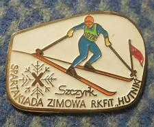X th SPARTAKIADE WINTER GAMES METALLURGISTS SKI SKIING POLAND SZCZYRK 1978 PIN