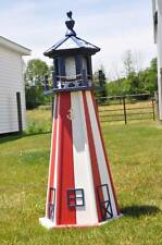 "Large 39"" Light Lighthouse Poly Vinyl Yard Garden Decoration Outdoor Landscape"