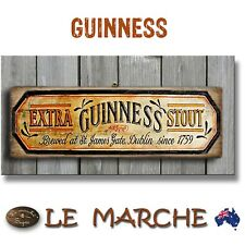 """🍺 GUINNESS """"Extra Stout"""" Vintage Wooden Rustic Plaque / Sign (FREE POST) 🍺"""