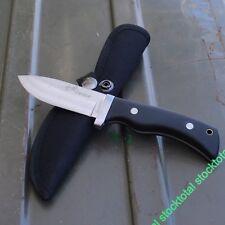 cuchillo con funda de nylon.  Modelo: TEIDE Mango Madera Hoja Acero Inox 32091 Y