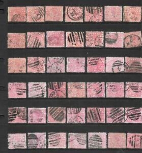 Bulk Stamps Victoria 1/2d Pink Queen Victoria x 42 Good Used /Fine Used