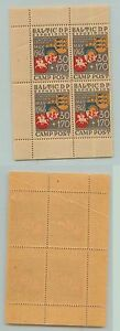 Estonia, 1946, 30+170, Baltic DP Camp Schongau, mint, block of 4. d8218