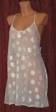Plus Lingerie-Sexy Semi Sheer Short Gown-Ivory(1X)