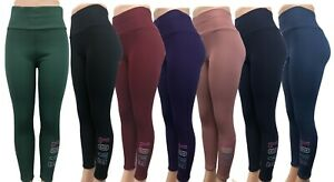 New Fashion Women Winter Warm Pull Up Solid Fleece Lined Legging Pants #1285