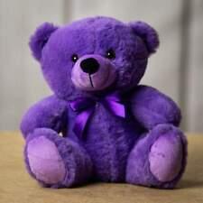"9"" Purple Plush Teddy Bear Stuffed Animal Toy Gift New PLUSH IN A RUSH"