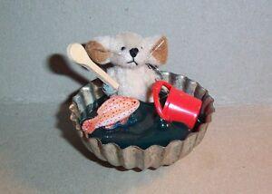 """Miniatur Teddybär - Künstlerteddy - Mäuseteddy """"Fischfreund"""" super Zustand"""