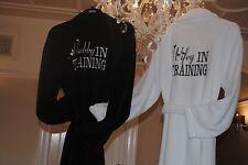 Luxury Personalised embroidery Bride/ Groom Wedding Gift Dressing Gown Bathrobe