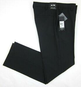 NEW! Men's Adidas Flat Front Black Twill Golf Pants Size 32x32 $80.00