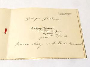 1931 Original SIGNED Princess Mary & Lord Harewood Christmas Card Royalty *