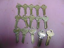 New listing 15 keys Old Eagle 1014 Keys Blanks Uncut Locksmith
