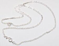 925 Silber Halskette - Figarokette - Diamantiert Ø 2 mm Beste Preis - TOP