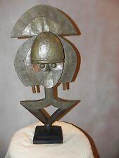 """Arts of Africa - Kota Reliquary - Gabon - DRC - Congo - 24"""" H x 12"""" Wide STRG"""