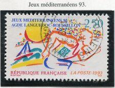 STAMP / TIMBRE FRANCE OBLITERE N°  2795 JEUX MEDITERRANEENS 93 AGDE