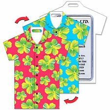 Lenticular Luggage Bag Travel Tag T Shirt Shape, Hawaiian Flower #LTST-356#