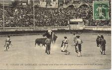 NIMES Arènes CORRIDA 2 LL course de taureaux le picador armé d'une vara