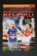 2008 Western Bulldogs vs Sydney Swans 2nd semi- final football record footy