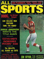 1971 (Nov.)  All Sports, Football magazine, Jim Plunkett, New England Patriots