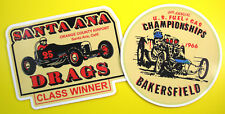 Vintage style DRAG RACING Retro Stickers Decals 60's