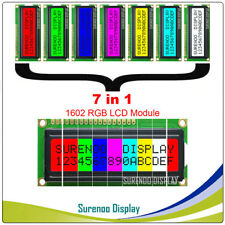 162 16X2 1602 Character LCD Module Display Screen LCM w/ RGB Backlight 7in1