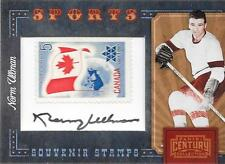 2010 Panini Century - NORM ULLMAN - Autograph Stamp - RED WINGS #d 40/85