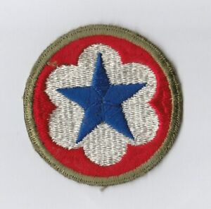 """WWII - ARMY SERVICE FORCES """"Od Border"""" (Original patch)"""