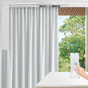 """87""""-244""""Smart Home Automatic Motorized Curtain Track Electric Curtain +Remote"""