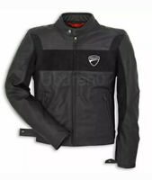 Ducati Racing Motorbike Leather Jacket In Pure Cow Hide/Ce Approved Protectors