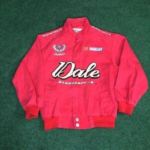 Dale Earnhardt Jr Chase Authentics Unisex Kids NASCAR Jacket Red Bomber Youth S