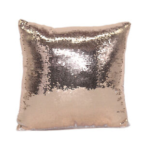 Champagne Sublimation Blank Reversible Mermaid Pillowcase Sequin Cover Glitter
