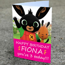 BING BUNNY Personalised Birthday Card | Daughter Son Girls Boys Fast Shipping