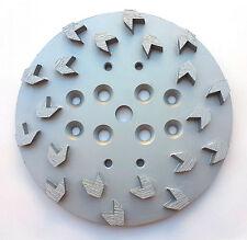 "10""Pro Concrete Grinding Head Disc Plate for Edco Floor Grinder- 20 Arrow Segs"