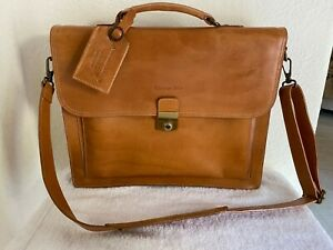 5Top-Quality Genuine Vintage Leather Messenger Briefcase Satchel Laptop Bag