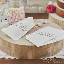 Boho Trattare Borse x25-Dolce/TESORO bar/Caramelle Buffet-bianco vintage Wedding/partito