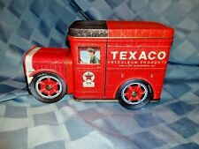 """""""Rare"""" Plays """"King of the Road"""" Man Cave Vintage Texaco Truck Music box Tin,"""