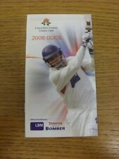 2006 Cricket: Lancashire County Cricket Club - Members Guide. If this item has a