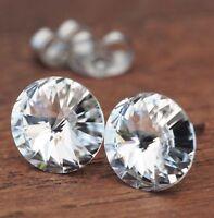 NEU Titan OHRSTECKER 10mm SWAROVSKI STEINE crystal/kristallklar OHRRINGE