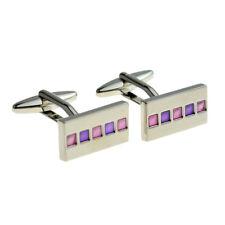 Rectangular Pink 5 Square Pink & Blue Cufflinks X2F005
