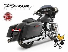 "RINEHART 4"" SLIP ON MUFFLERS W/ CHROME END CAPS HARLEY 1995-16 TOURING 500-0102C"