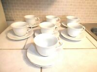 Lot of Williams-Sonoma BAROQUE Seven Cups / Eight Saucers - Japan