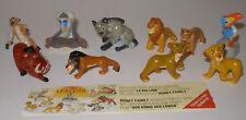 """Satz Fremdfiguren Disneys """"König der Löwen"""" von Nestle mit Beipackzettel"""